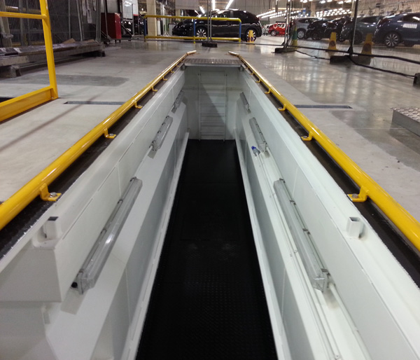 Prefabricated Vosa Vehicle Inspection Pits Garage And